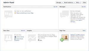 Facebook Fanpage - Admin panel